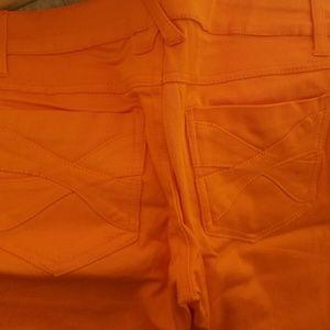 Royal Bones Pants - [HOLD] Not For Sale Orange Hot Topic Skinny Jeans